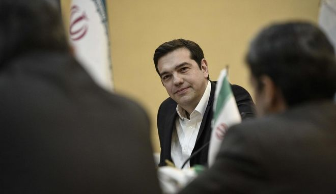 Greece's Prime Minister Alexis Tsipras visits Iran on Feb.8, 2016. /      , 8  2016.