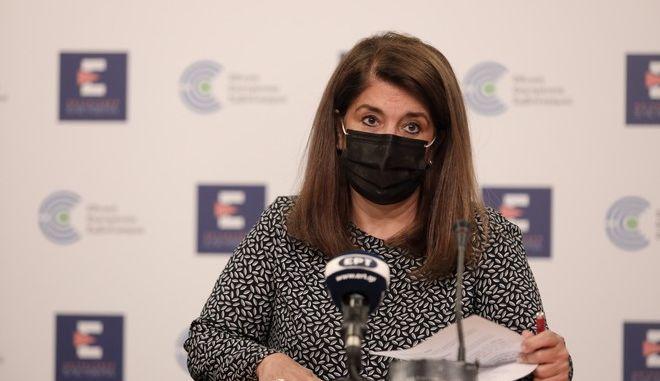 Η καθηγήτρια Παιδιατρικής Λοιμωξιολογίας και μέλος της Επιτροπής Εμπειρογνωμόνων του υπουργείου Υγείας Βάνα Παπαευαγγέλου.