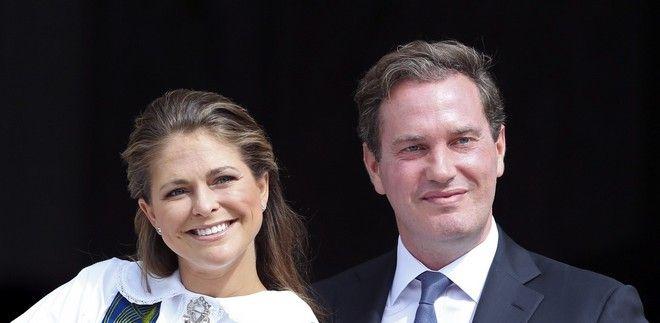 Η πριγκίπισσα Μαντλέν της Σουηδίας και ο σύζυγός της Κρίστοφερ Ο'Νιλ τον Ιούνιο του 2014