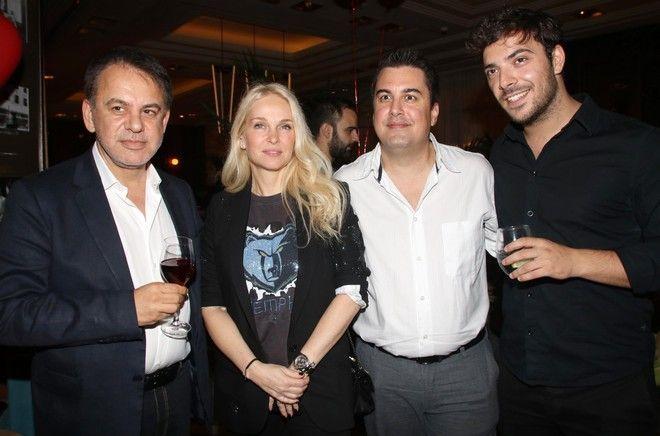 Ο Γιάννης Κεντ, η Μαρί Κωνσταντάτου, ο Πάνος Κατσαρίδης και ο Πάνος Νάτσης