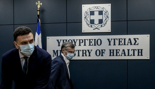 Βασίλης Κικίλιας και Σωτήρης Τσιόδρας σε ενημέρωση για τις εξελίξεις σχετικά με την πανδημία