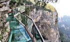 Γέφυρα από γυαλί στην Κίνα (φωτογραφία αρχείου)