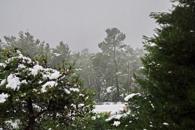 Χιονόπτωση στην Ιπποκράτειο Πολιτεία.