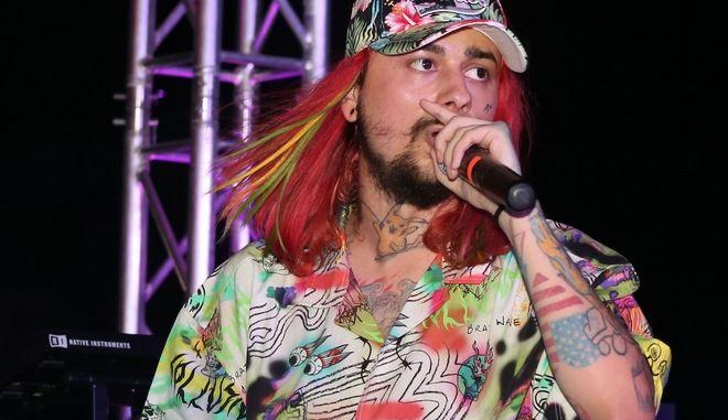 Ο Sin Boy σε συναυλία του