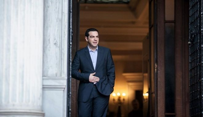 Greek Prime Minister Alexis Tsipras received Secretary-General of the Organisation for Economic Co-operation and Development (OECD), Jose Angel Gurria Trevino, at Maximos Mansion, in Athens, on Feb. 11, 2015 /        Jose Angel Gurria Trevino,   ,  11 , 2015