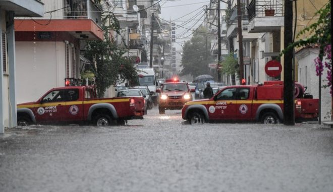 Φωτό αρχείου: Πλημμύρες στη Δυτική Ελλάδα