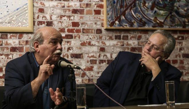 """Εκδήλωση του """"Πράττω""""  """"το μέλλον της προοδευτικής παράταξης"""" με ομιλητές τον Νίκο Κοτζιά τον πρώην Πρόεδρο της Βουλής, Νίκο Βούτση"""