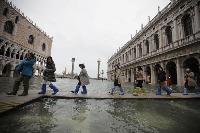 Νέα μεγάλης έκτασης πλημμύρα στη Βενετία