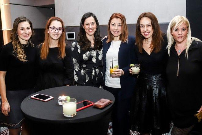 Από αριστερά: Χριστίνα Τζεβελέκου, Μαριλένα Μπάτη, Τίνα Αδρακτά, Έλενα Καλογρίτσα, Σταυριάννα Χουτρίδη και Φιλιώ Μερμίρη