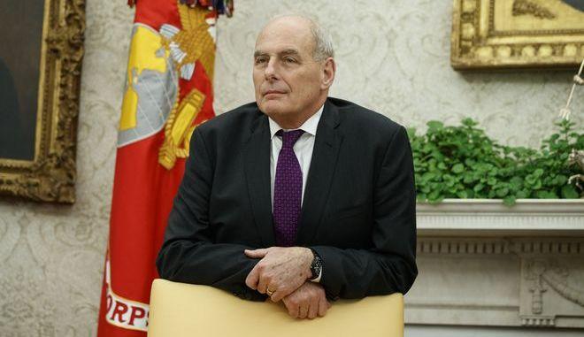 Ο προσωπάρχης του Λευκού Οίκου Τζον Κέλι