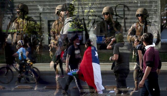 Από τις ταραχές στην Χιλή