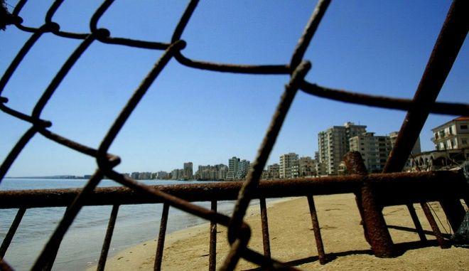 Συρματόπλεγμα στην περίκλειστη πόλη της Αμμοχώστου
