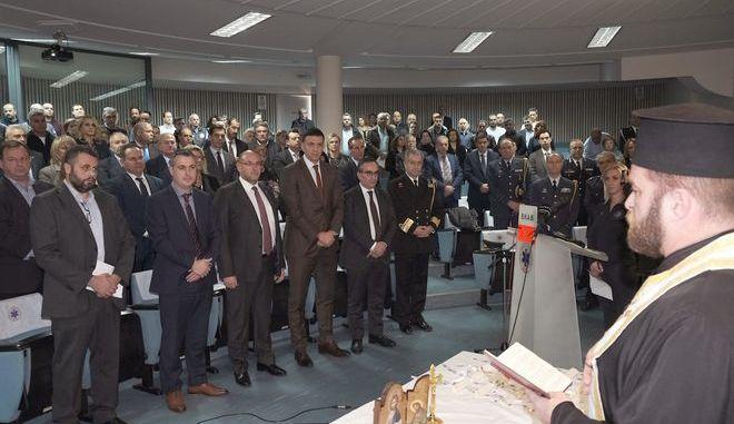 Εκδήλωση τιμής για την «Ημέρα Θυσίας του Διασώστη» στην Κεντρική Υπηρεσία του ΕΚΑΒ Αθήνας.
