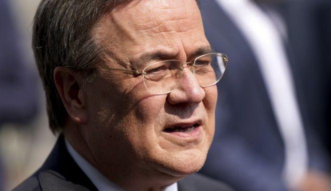 Ο επικεφαλής του CDU και υποψήφιος της Χριστιανικής Ένωσης για την καγκελαρία, Άρμιν Λάσετ