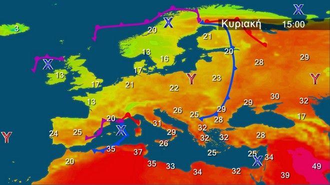Ζεστός καιρός σε όλη τη χώρα – Μελτέμι στο Αιγαίο