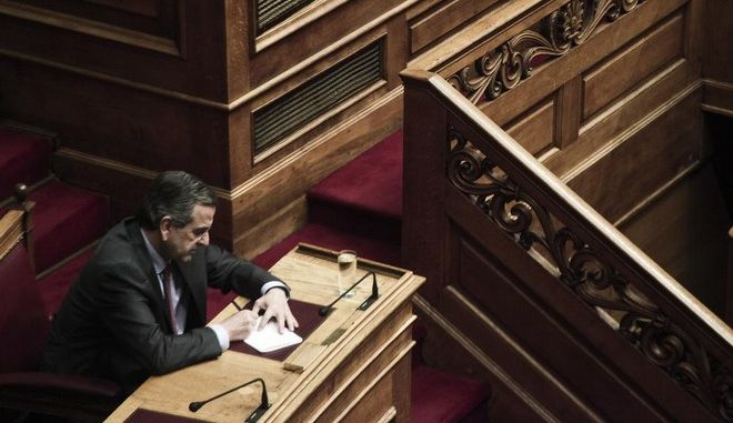 Discussion  in Parliament plenary on the state budget 2015, in Athens, on Dec. 3, 2014 /     ,      2015,  ,  3   2014
