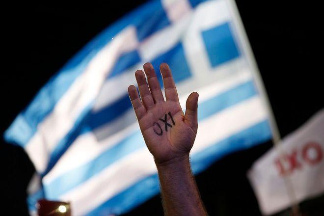Εικόνα αρχείου. 3 Ιουλίου 2015, παραμονές του δημοψηφίσματος στην Ελλάδα.