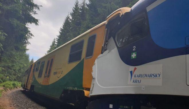 Σύγκρουση τρένων στην Τσεχία