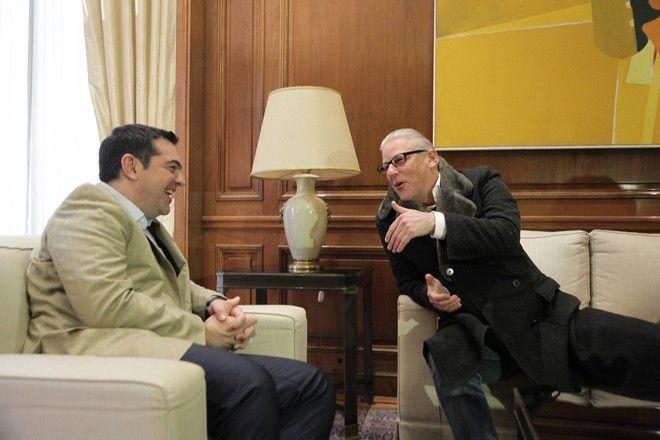 Συνάντηση του Πρωθυπουργού Αλέξη Τσίπρα με τον Καλλιτεχνικό Διευθυντή του Ελληνικού Φεστιβάλ Jan Fabre, την Τετάρτη 30 Μαρτίου 2016, στο Μέγαρο Μαξίμου. (EUROKINISSI/ΓΙΑΝΝΗΣ ΠΑΝΑΓΟΠΟΥΛΟΣ)