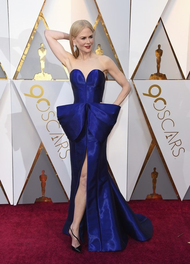 Nicole Kidman arrives at the Oscars on Sunday, March 4, 2018, at the Dolby Theatre in Los Angeles. (Photo by Jordan Strauss/Invision/AP)