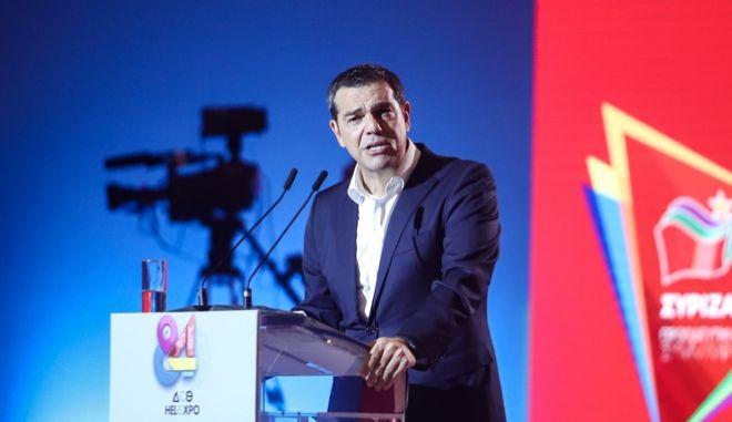 Στιγμιότυπο από την ομιλία Αλ. Τσίπρας στην 84η ΔΕΘ