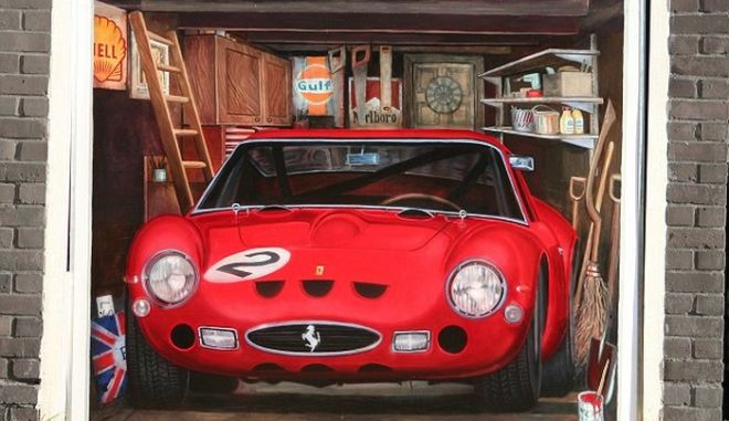 Αν δεν μπορείς να αγοράσεις μία Ferrari... ζωγράφισέ την!