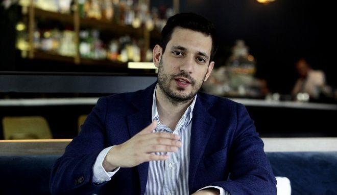 Ο αναπληρωτής εκπρόσωπος Τύπου της Νέας Δημοκρατίας, Κώστας Κυρανάκης (Γιώργος Κονταρίνης/Eurokinissi)