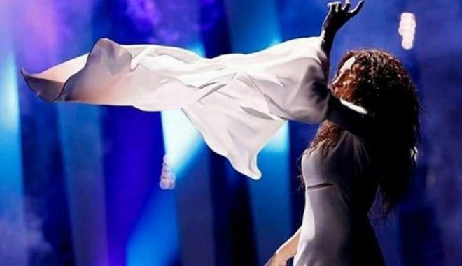 Η Γιάννα Τερζή στην πρόβα της ελληνικής συμμετοχής στη Λισαβόνα για τον διαγωνισμό της Eurovision