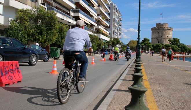 Επεκτείνονται οι ποδηλατόδρομοι στη Θεσσαλονίκη