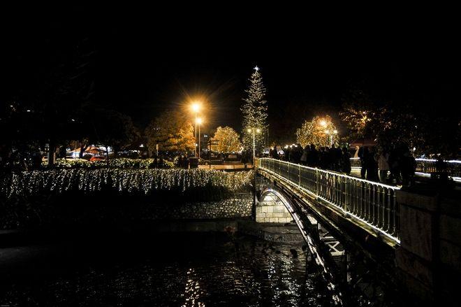 Το απόγευμα του Σαββάτου 2 Δεκεμβρίου 2017, άναψε το Χριστουγεννιάτικο δέντρο στην κεντρική πλατεία (το ψηλότερο φυσικό δέντρο στην Ελλάδα) και φωταγωγήθηκαν κεντρικοί δρόμοι της πόλης. Τα Τρίκαλα εισήλθαν πλέον και επίσημα στην εορταστική περίοδο, καθώς χθες άνοιξε και ο