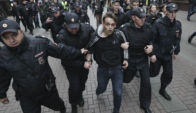 Καρέ από τις διαδηλώσεις του Αυγούστου στη Ρωσία
