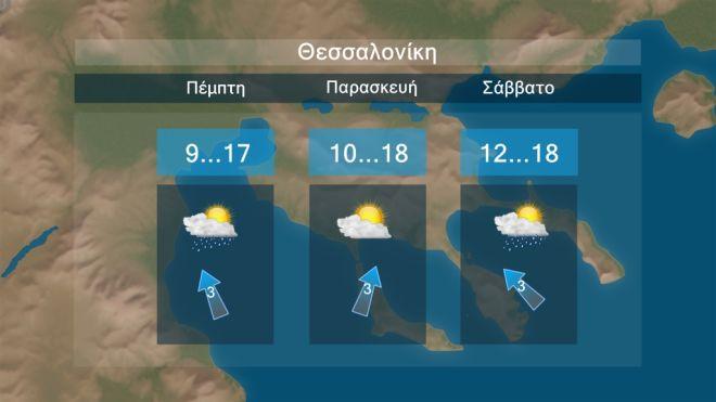 Άστατος καιρός κυρίως την Πέμπτη- Πτώση θερμοκρασίας το Σαββατοκύριακο