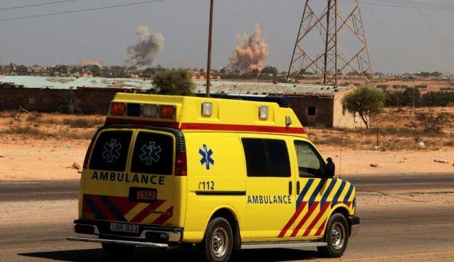 Ασθενοφόρο στην Λιβύη