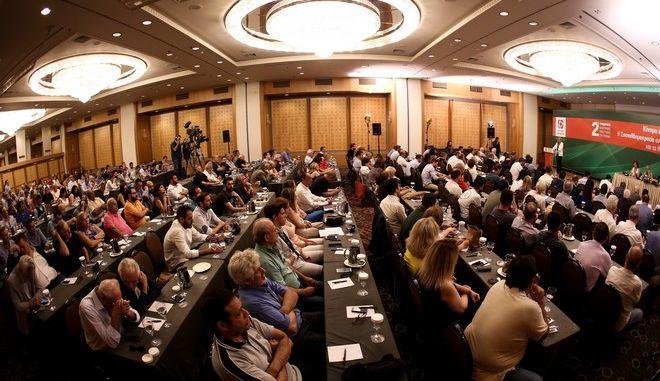 Εικόνα από τη συνεδρίαση της Κεντρικής Πολιτικής Επιτροπής του ΚΙΝΑΛ