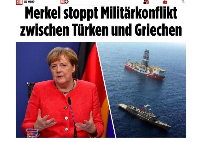 Bild: Η Μέρκελ απέτρεψε θερμό επεισόδιο μεταξύ Ελλάδας-Τουρκίας