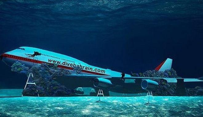 """Ένα βυθισμένο αεροσκάφος θα είναι ο """"πρωταγωνιστής"""" του θαλάσσιου πάρκου στο Μπαχρέιν"""