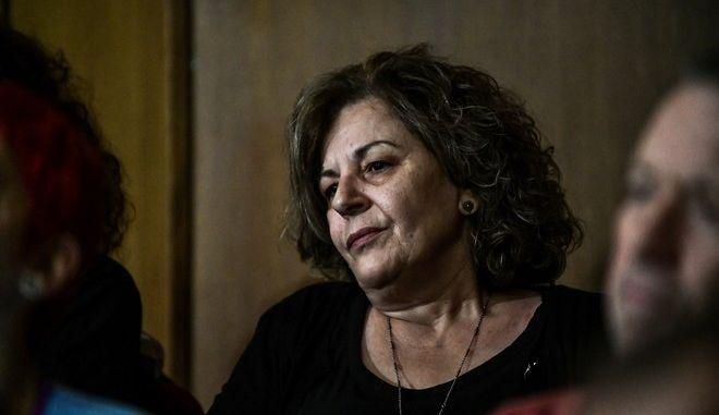 Η Μάγδα Φύσσα στην απολογία του πρώην βουλευτή Ηλία Κασιδιάρη στη δίκη της Χρυσής Αυγής ενώπιον του Τριμελούς Εφετείου Καλουργημάτων