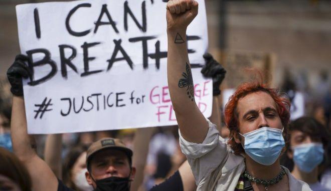 Αντιφασιστική συγκέντρωση στην Ιταλία με αφορμή τη δολοφονία του Τζορτζ Φλόιντ