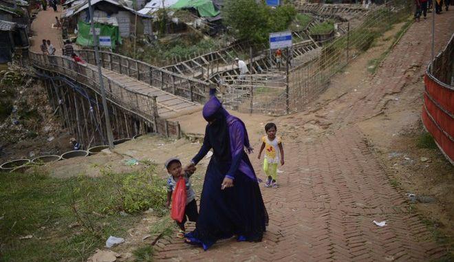 Μέλη της μειονότητας των Rohingya