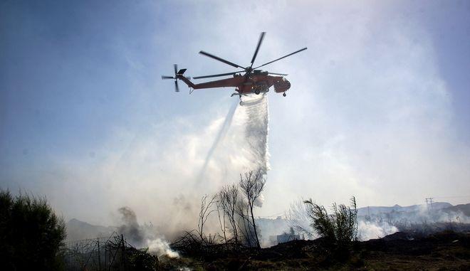 Πυρκαγιά στην παραλία της Αφάντου στην Ρόδο την Πέμπτη 6 Αυγούστου 2020.(EUROKINISSI / ΑΡΓΥΡΗΣ ΜΑΤΙΚΟΣ)