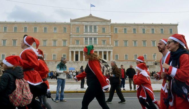 SANTA RUN ATHENS 2016.EUROKINISSI ÁÍÔÙÍÇÓ ÍÉÊÏËÏÐÏÕËÏÓ