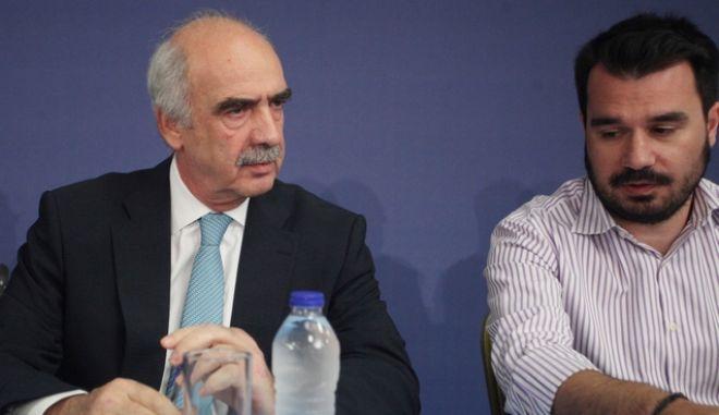 Στα 'ορεινά' του συνεδρίου της ΝΔ ο Μεϊμαράκης μαζί με τον Παπαμιμίκο