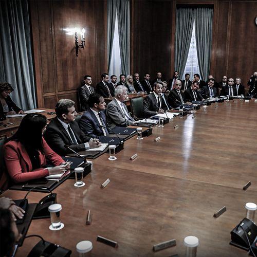 Στιγμιότυπο από συνεδρίαση του υπουργικού συμβουλίου (Φωτογραφία αρχείου)