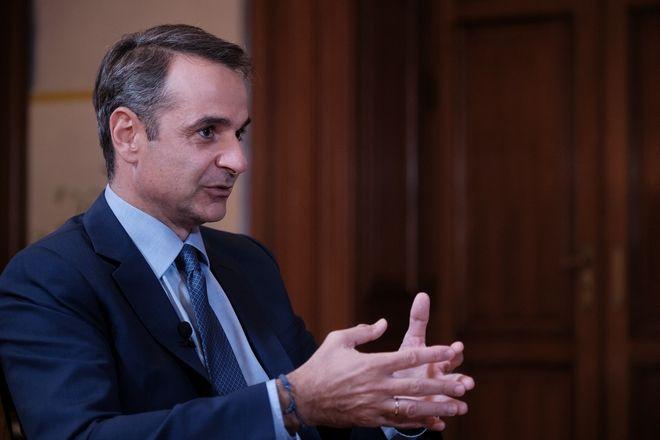 Ο πρωθυπουργός Κυριάκος Μητσοτάκης συμμετέχει σε διαδικτυακή συζήτηση με τον Εκτελεστικό Διευθυντή του Economist, Daniel Franklin στο πλαίσιο της 24ης Ετήσιας Συζήτησης Στρογγυλής Τραπέζης του Economist με την Ελληνική Κυβέρνηση, την Τετάρτη 16 Σεπτεμβρίου 2020, στο Μέγαρο Μαξίμου. (EUROKINISSI/ ΓΡΑΦΕΙΟ ΤΥΠΟΥ ΠΡΩΘΥΠΟΥΡΓΟΥ ΔΗΜΗΤΡΗΣ ΠΑΠΑΜΗΤΣΟΣ)