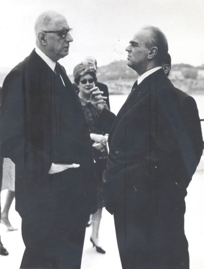 Ο Κωνσταντίνος Καραμανλής με το Σαρλ Ντε Γκολ στο Παρίσι το 1960