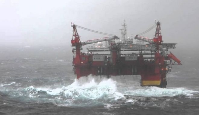 Διακοπή εργασιών άντλησης πετρελαίου στη Βόρεια Θάλασσα. Εκτός κινδύνου η κατάσταση
