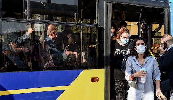 Λεωφορείο στο κέντρο της Αθήνας