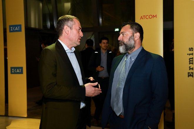 Από αριστερά ο Δημήτρης Μάρης, Πρόεδρος και ιδιοκτήτης 24MEDIA και ο Δημήτρης Βάγιας, Business Executive Commercial Director at Forthnet, Athens