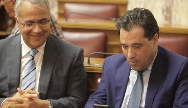 Συνεδρίαση της Κοινοβουλευτικής Ομάδας της Νέας Δημοκρατίας την Δευτλερα 29 Ιουνίου 2015, στην Βουλή. (EUROKINISSI/ΓΙΩΡΓΟΣ ΚΟΝΤΑΡΙΝΗΣ)