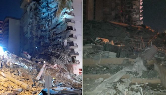 Συναγερμός στο Μαϊάμι: Κατέρρευσε ξαφνικά πολυώροφο κτίριο - Μία νεκρή και τραυματίες